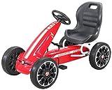Actionbikes Motors Miweba Gokart Abarth - Pedali per bambini, con licenza ufficiale, colore: rosso