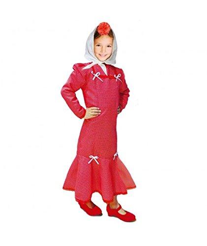 Disfraz Chulapa niña Rojo Lunar Blanco (2 años)