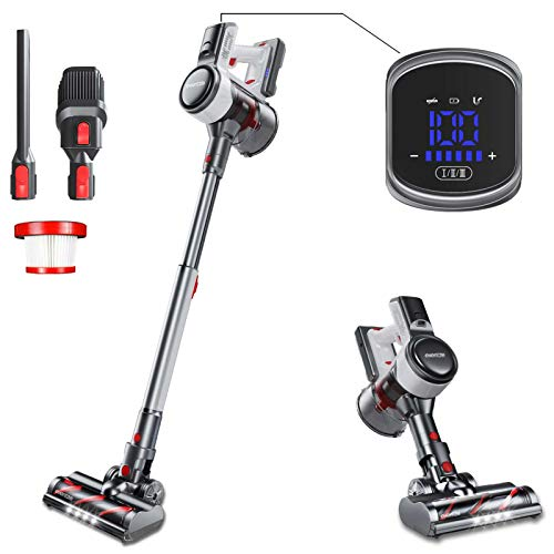 Evereze Cordless Stick Lightweight Vacuum 25KPa Powerful Suction 50Mins Runtime Rechargeable...