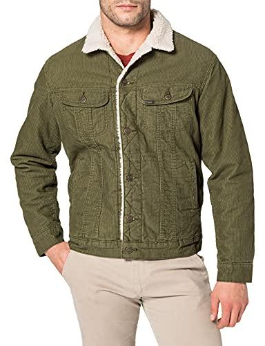 Lee Sherpa Jacket Chaqueta Vaquera, Verde Oliva, M para Hombre