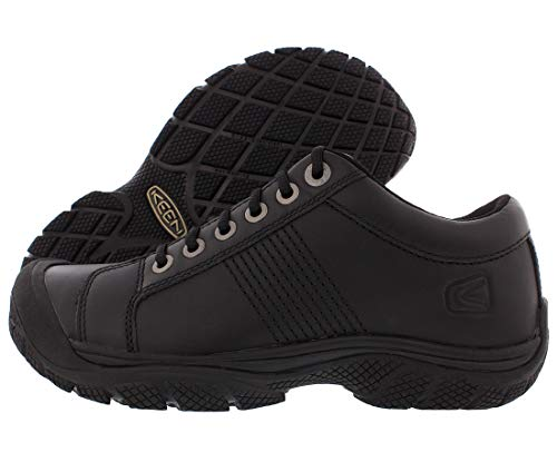 KEEN Utility Men's PTC Oxford Low Height Non Slip Chef Food Service Shoe, Black/Black, 13 Medium US