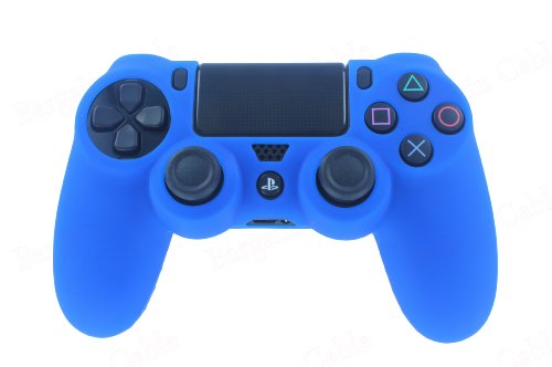 Bargain Cable Blue Silicone Rubber Soft Case Gel Skin Cover for SONY PlayStation 4 PS4 Controller