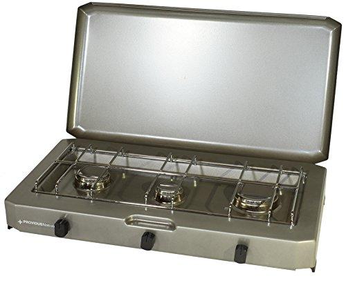 PROVIDUS PROWELTEK PR-1086 FT 300 Fornello a Gas 3 fuochi con 3100 W Coprire