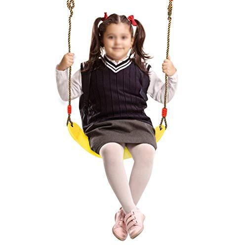 Alomejor Kinder Schaukelsitz Hochleistungsschaukelsitz Eva Soft Board Outdoor Schaukelstuhl für Indoor Outdoor Schaukel Zubehör(Gelb)