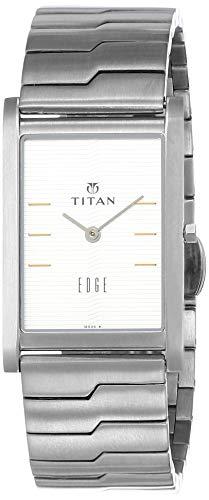 Titan Edge Analog White Dial Men's Watch - 1043SM14