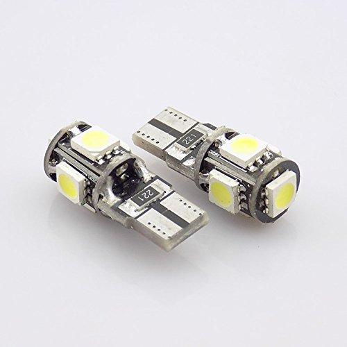 Unipower TMT Leds(TM) 2 x LED-lampen CANBUS T10 W5W 5 LEDs SMD 5050 zuiver wit 5500K zonder blauwe tint kentekenplaat interieur auto motorfiets