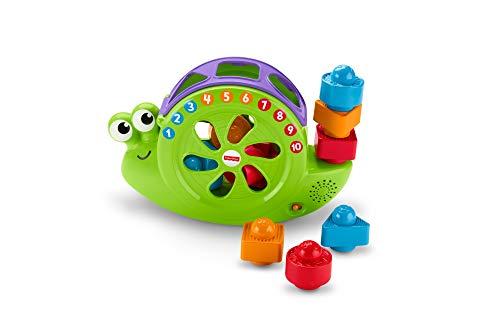 Fisher-Price FRB88 - Babys Musikschnecke mit Spielblöcken, Lernspielzeug für Farben Zahlen und Formen, Baby Spielzeug ab 6 Monaten, deutschsprachig