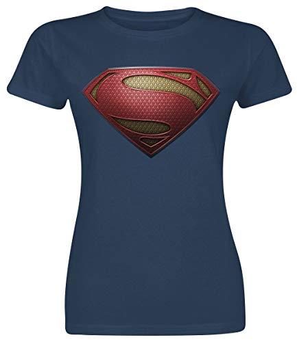 Collectors Mine, Camiseta con Cuello Redondo de Manga Corta para Mujer, Azul (Blau), L