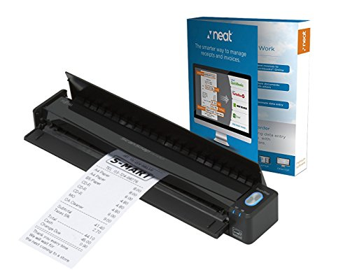 Fujitsu ScanSnap iX100 Wireless Mobile Portable Scanner with Neat Software for Mac or PC, Black