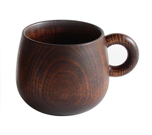 オークヴィレッジ マグカップ 拭き漆塗 直径9cm×高さ7.5cm ( 8分目で約 200ml 入ります) 手のひらになじむ、木製の漆塗りマグカップ 05930-20