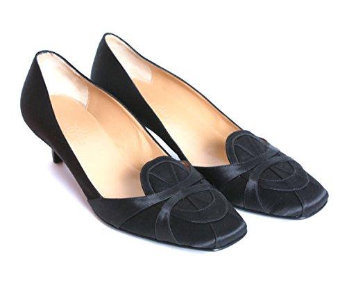 [エルメス] H レディース シューズ シルク パンプス NIXE NOIR ブラック フォーマル 靴 (35) [並行輸入品]