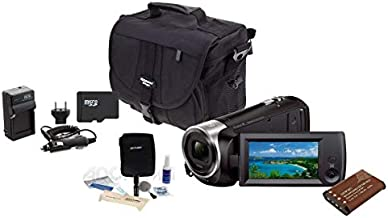 Sony HDR-CX405 Full HD 60p Camcorder, 2.3MP Sensor - Bundle with 32GB Class 10 MicroSDHC Card, Video Case, Spare Battery, AC/DC Battery Charger Cleaning Kit