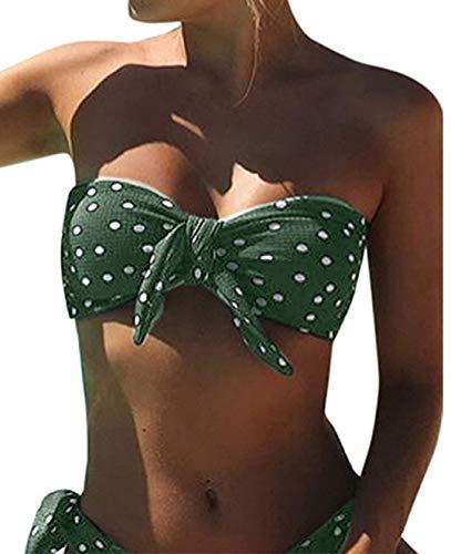 UMIPUBO Bikini Mujer Dos Piezas Ropa con Estampado de Lunares Push-Up Traje de...