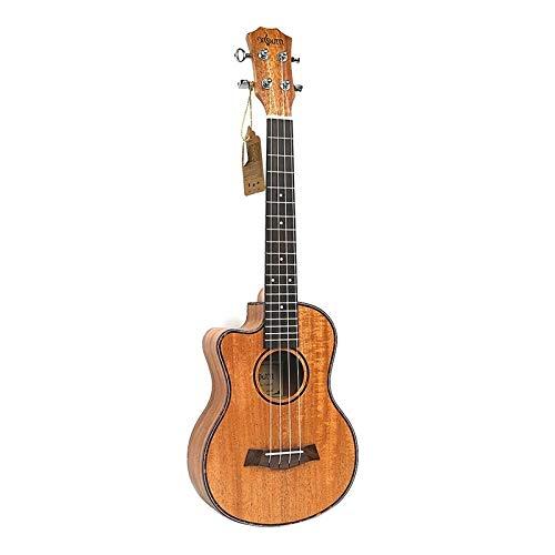 PNLD Tenor Acoustic 26 Zoll Ukulele 4 Saiten Gitarre Reisen Holz Mahagoni-Musik-Instrument (Farbe : Wood Color, Größe : 26 inches)