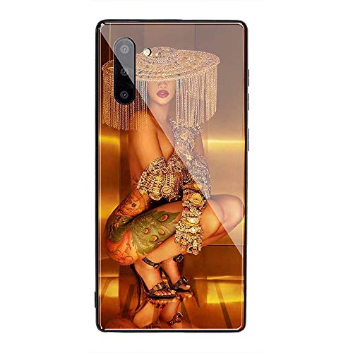 Samsung Galaxy S10 Plus Case, Tempered Glass Back Cover Soft Silicone Bumper Compatible with Samsung Galaxy S10 Plus AMB-5 Cardi B CardiB