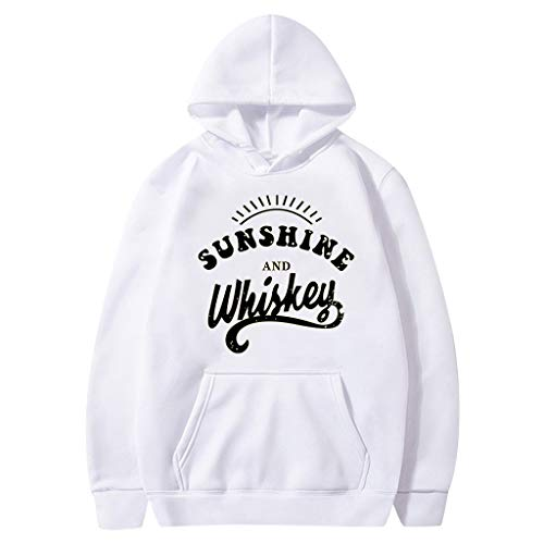 Review Women's Hooded Sweatshirt Letter Print Solid Color Pullover Tops Long Sleeve Drawstring Patch...