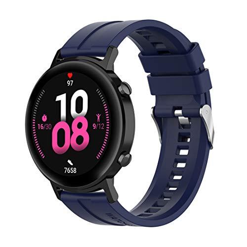 Bexido Correa compatible con Huawei Watch GT2 de 42 mm, 20 mm de liberación rápida de silicona para Samsung Galaxy Watch Active 2/Garmin Venu Sq/Vovimove HR/Amazfit GTS/GTS 2/GTR 42 mm