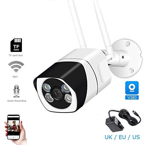 XIAOSHEN Telecamera IP WiFi 1080P CCTV a Due canali Audio a infrarossi per Visione Notturna Impermeabile per videosorveglianza CCTV per Esterni App YOUSEE 1080P