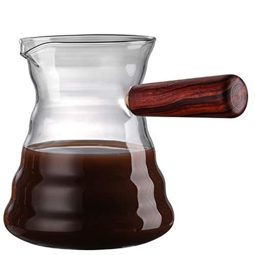 YQQ-Cafetière Kaffeekanne Decanter, mit Einem Einfach zu-Dump Griff für BIS zu 6 Tassen Kaffee.