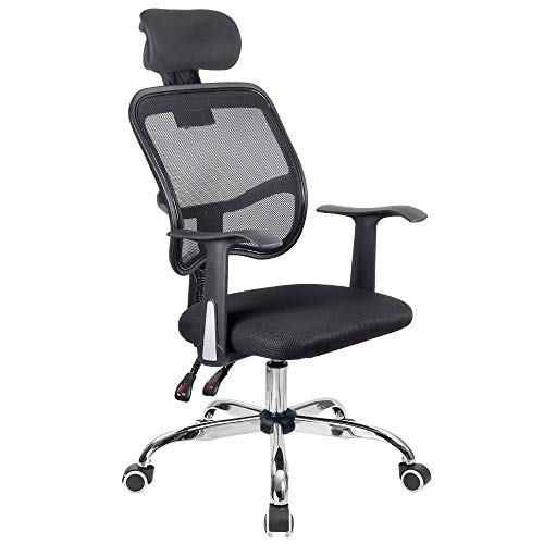 Silla de oficina giratoria para ordenador con altura ajustable, sillas ejecutivas para videojuegos con reposabrazos y soporte lumbar ergonómico