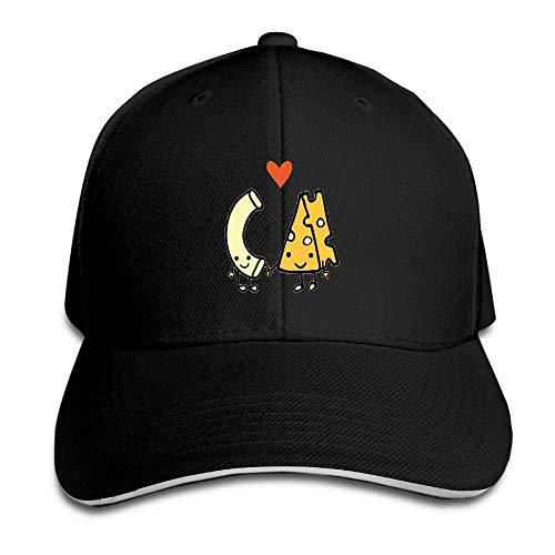 Zcfhike Macarrones y quesos Love Best Sunscreen Sandwich Peaked Cap, Gorras de béisbol Multicolor84
