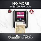 Geldscheinprüfer & Geldzählmaschine Scheine 2in1 - Geldschein Prüfgerät Falschgelderkennung mit UV/MG/IR für falsche Euro, Pfund, Dollar Scheine - Mobiler Scanner Test leicht & kompakt - 5
