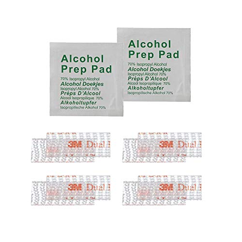 EZ Pass/I-Pass/Toll Tag Tape Mounting Kit - Peel and Stick Adhesive Strips Dual Lock Tape - 4 Strips (2 Sets) with Alcohol Prep Pad