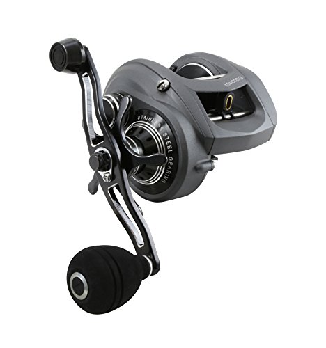 Okuma Komodo SS Large Capacity Low Profile Baitcaster, KDS-364LX (Left Hand), 150 yds-20LB, Power Handle