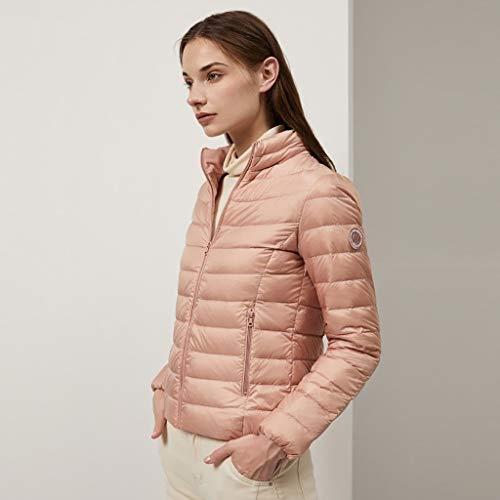 VIVIANE Daunenjacke, New Leichte Daunenjacke, Daunenjacke Tasche, Weibliche Kurze Mode Koreanische Version Der Slim Tide Daunenjacke, Kann Gespeichert Werden (Color : Pink, Size : 190/108A)