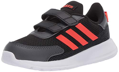 adidas Unisex-Baby Tensaur Run I Sneaker, core Black/Solar Red/Grey Six, 3K M US Infant