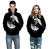 heavKin-Winter Men Women Couple Models 3D Bird Printing Hoodies Sweatshirt Leisure Guard Top Blouse...