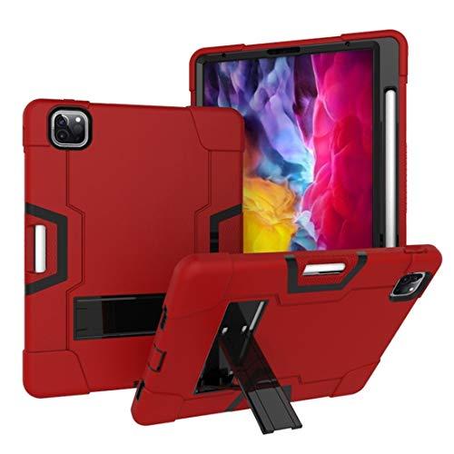 Hangmao HH-Funda Protectora para iPad para iPad Pro 11 Pulgadas (2020) Robot de Contraste de Color Silicon + PC Funda Protectora con Soporte y Ranura de bolígrafo (Color : Red+Black)