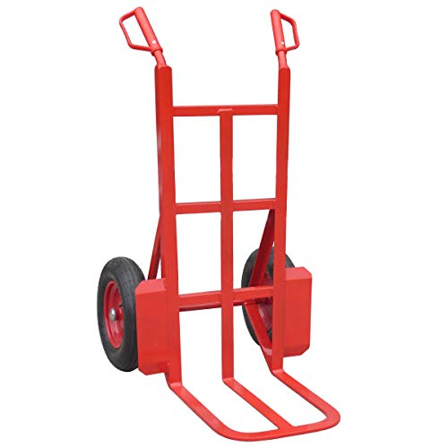 Heavy Duty Sack Trolley for Rough Terrain, Garden Sack Truck with Large Toe and Pneumatic Wheels, 350kg