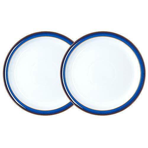 Denby Azurblau, Steingut, Königsblau, 2 Plates