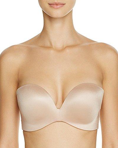 Fine Lines Women's Refined Wireless Strapless Convertible Bra RL136 34B Nude