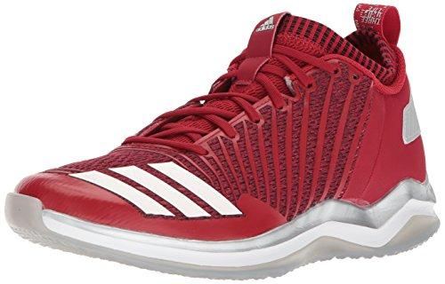 adidas Icon Trainer Zapatillas de béisbol para hombre, Rojo (Color rojo/blanco/rojo.), 51 EU