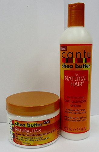 CANTU SHEA BUTTER FOR NATURAL HAIR MOISTURIZING CURL ACTIVATOR CREAM & LEAVE IN CONDITIONING REPAIR CREAM 355ml**DEAL** by Cantu