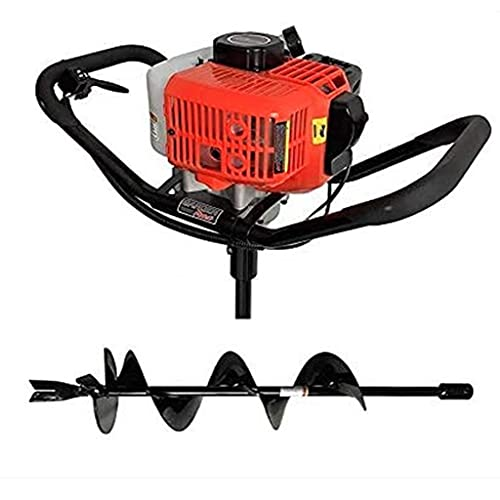 GardenTrax Earth Auger Combo 43cc 2cycle Powerhead with 8 Inch Auger Drill Bit