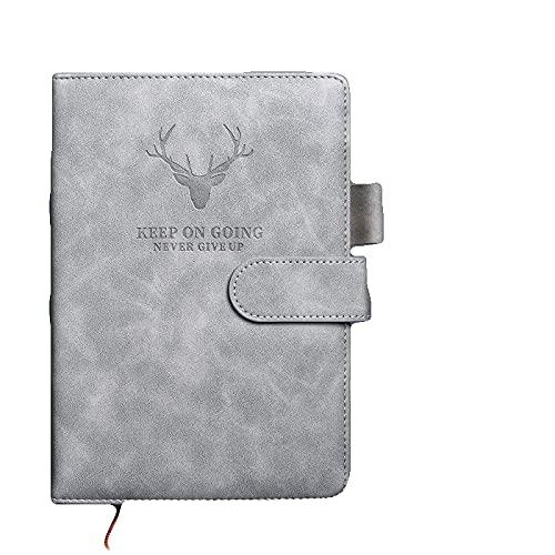 Coolga Cuaderno de trabajo con sentido de cera, de cuero, suministros escolares, tapa dura, clásico, vegano, cuaderno de negocios, 360 páginas, muy grueso, diario, oficina de negocios