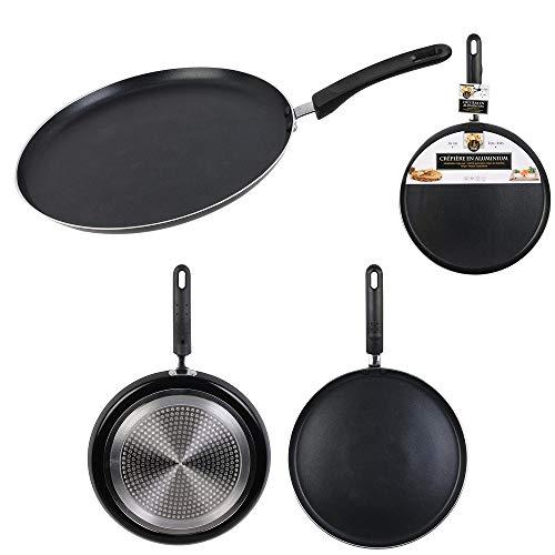 Les Colis Noirs LCN - Crepiere Tous Feux en Aluminium 30cm - Poêle a Crêpe Chandeleur Cuisine - 939