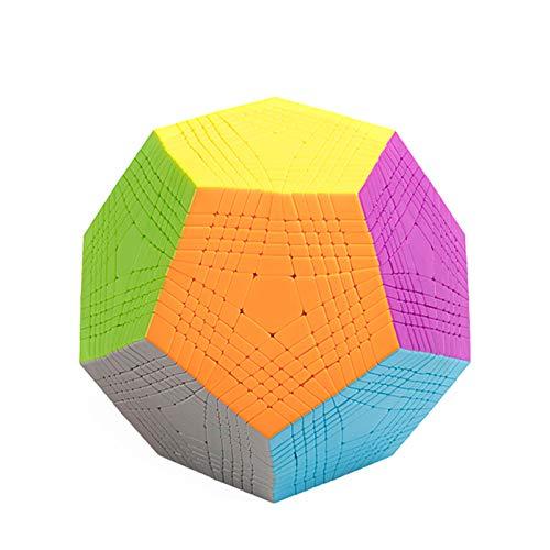 YYBF Speed Cube Set Megaminx Magic Speed Cube Forma Especial Cubo Magic Cube Profissional 3D Puzzle para Niños Juguetes Educativos para Adultos Regalo para Niños,Dodecaedro Cube 11×11