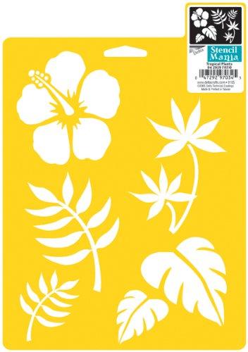 Delta Creative Stencil Stencil, 7da 25,4cm, SM97–0710Piante Tropicali