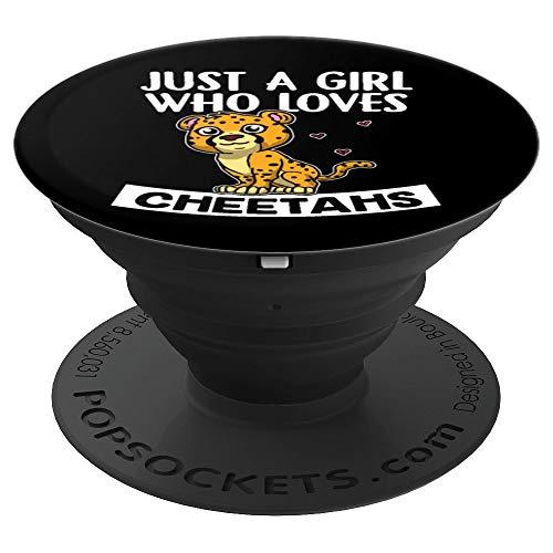 Just A Girl Who Cheetahs Lustiges Leopard Gepard Kostüm - PopSockets Ausziehbarer Sockel und Griff für Smartphones und Tablets