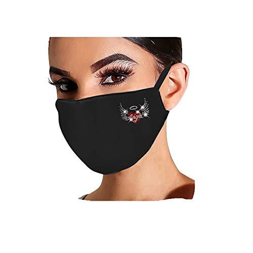 Cuidado personal Hombres Y Mujeres Adultas Moda PedreríA Lavable Y Reutilizable_Mascarillas Negras
