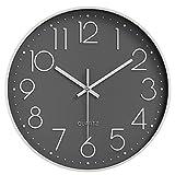 orologio da parete da esterno 12 pollici grande numeri arabi facile da leggere decorazione quarzo orologio muro adatto per camera da letto, cucina, soggiorno, ufficio