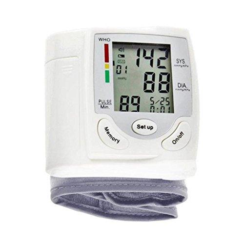 Handgelenk Blutdruckmessgerät Tragbares Blutdruckmessgerät mit Großem LCD Display für Schnelle Und Genaue Lesung Von Sicher und Bequem für Den Haushalt