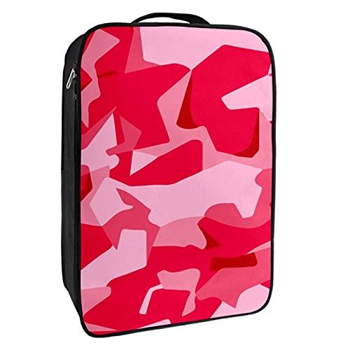 nakw88 Bolsa de zapatos militar de camuflaje rosa con capacidad para 1 – 2 pares de zapatos para viajes y uso diario, sistema de embalaje conveniente para tus zapatos