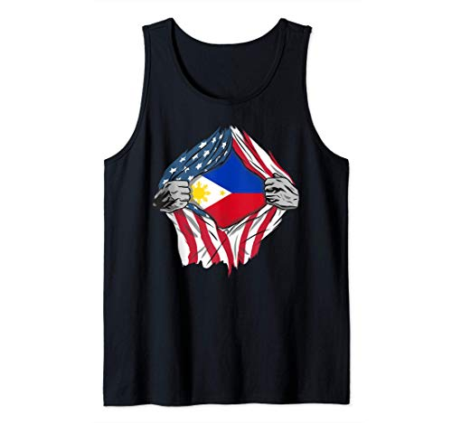 Filipino American Blood Inside Me - Country Flags Tank Top