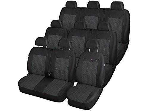 Volkswagen T6 Sitzbezüge nach Maß Autoplanen perfekte Passform Schonbezüge Sitzschoner Velour + Strickpolster ®Auto-schmuck (9 p1)