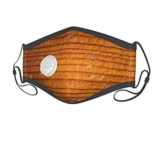 Old Cello Wood Breathing Valve with Filter, Washable and Reusable Breathable Shield for Boys and Girls